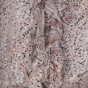 Dress Snake Print Beige