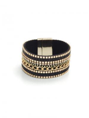 leather bracelet panter print logo