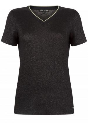 Shirt lurex V-neck logo