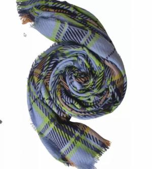 Sjaal ruiten motief logo