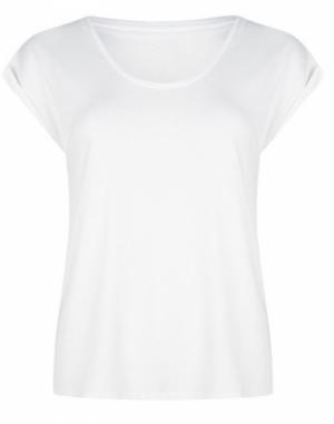 T-shirt turn up sleeve logo