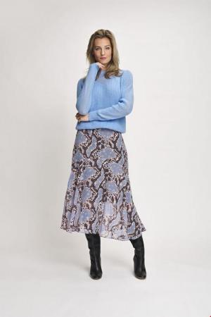 Skirt midi multi snake logo