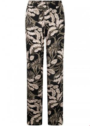 Trousers palazzo leaves logo