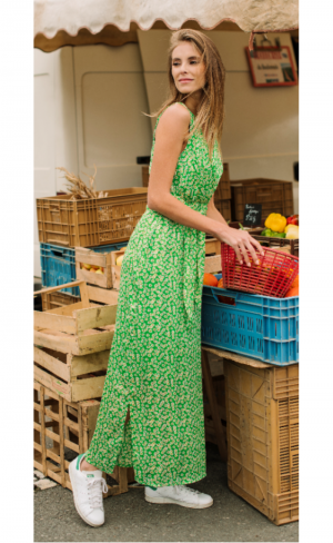 Maxi dress minimal flower logo
