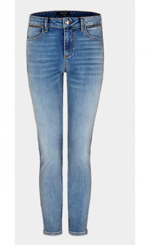 Trousers blue denim logo