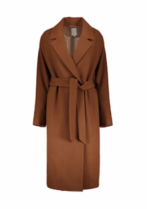 Long coat wool camel camel