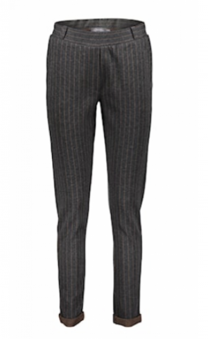 Pants pinstripe anthracite grijs