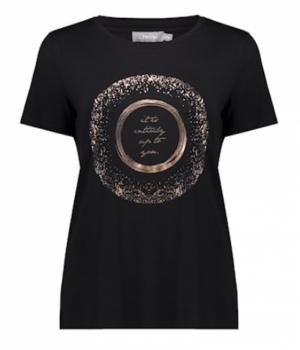 T-shirt circle sparkles print. logo