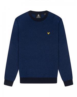 Knitwear dark navy-indigo logo