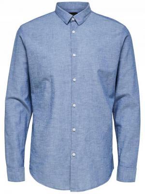 Slim linen shirt NOOS logo