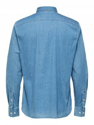 Regsel shirt NOOS medium blue den