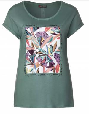 Flower partprint shirt logo