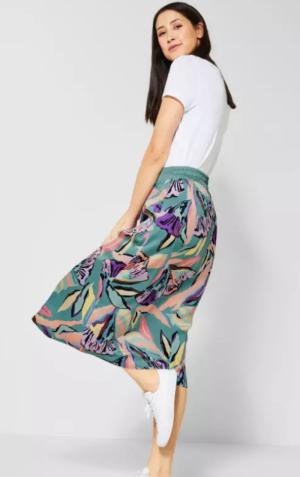 Midi skirt printed logo