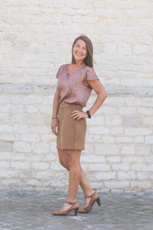 Donnadina faux suede shirt cognac