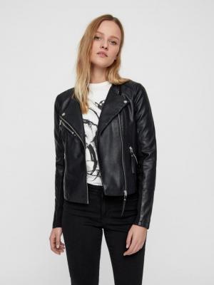 Ria Favo short coated jacket black