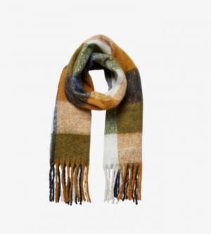 Saura long scarf logo