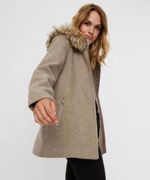 Collar Wool jacket Sepia Tint