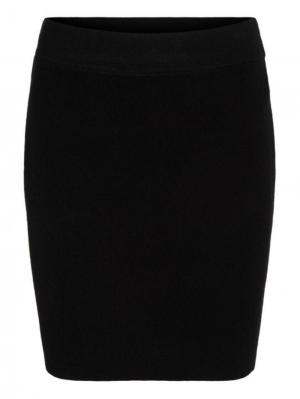 Anna knit skirt black logo