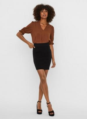Anna knit skirt black Black