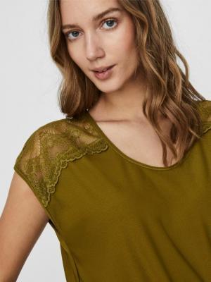 Milla lace top Fir green