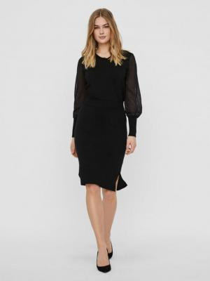 Gusta fullneedle skirt black Black