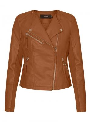 Ria Favo short coated jacket. logo