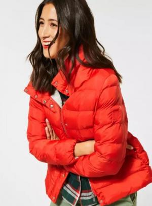 A201492 short padded jacket w. 12337 power red