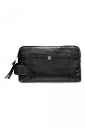 Washbag Leather zwart