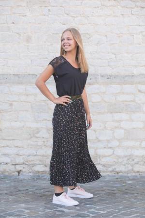 Skirt plisse mini paisley paisley