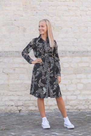 Dress Travel  9998 Print blac