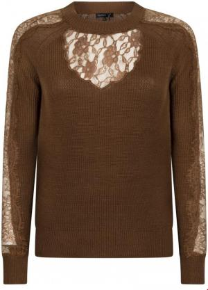 Jumper with lace logo