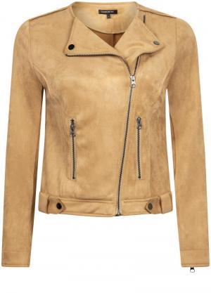 Jacket biker suedine logo