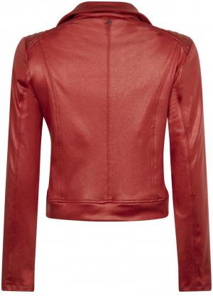 Jacket biker coated sweat 4070 Stone red