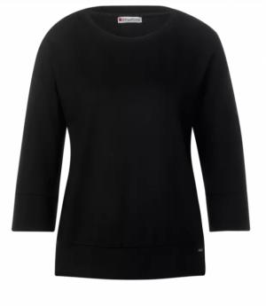 A315496 soft oversize shirt 10001 Black