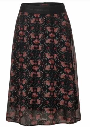 A360727 Midi skirt chiffon pri logo
