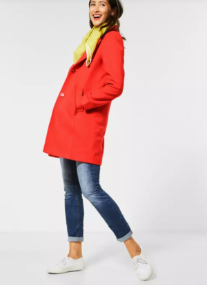 A100658 revers coat w. lining 12337 power red
