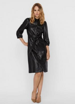 Butter Lee coated dress black