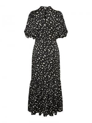 Calina puff calf dress zwart