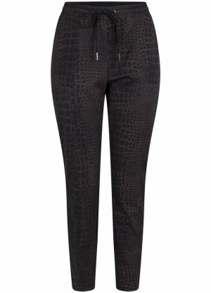 trousers travel croco print logo