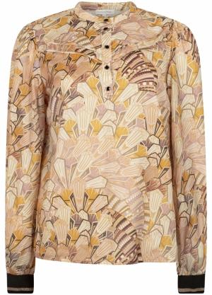 blouse l-s art deco print logo