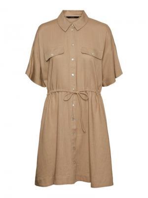 Haf short shirt dress nomad logo
