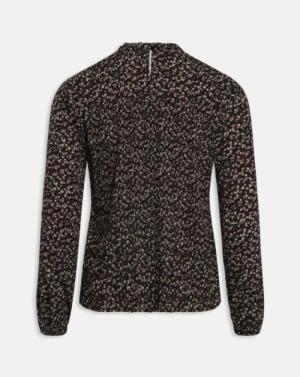 Vaida blouse black/smal flow