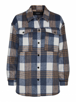 Checked overshirt logo