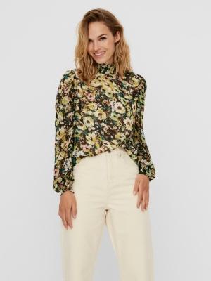 Nilla highneck blouse logo