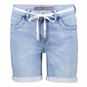 Shorts bleached denim logo