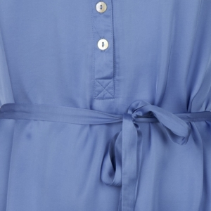 Dress satin shoulder ruffles. logo