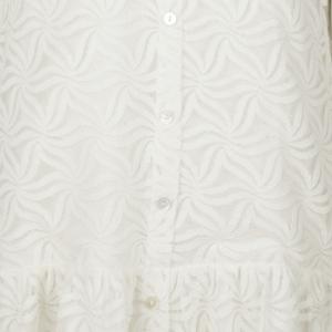 Dress lace poplin collar logo