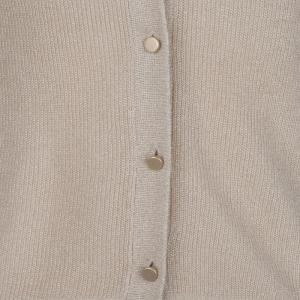 Cardigan lurex logo