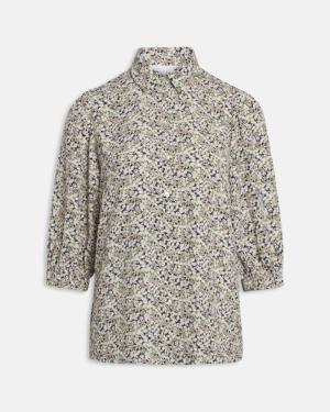 Elja blouse small flower logo
