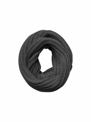 nela scarf dark grey melan